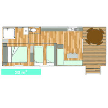 Map of our Garden Tiki Hutte Standard 2 bedrooms