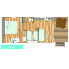Map of our Tiki Hutte - Seaview - Premium 2 bedrooms